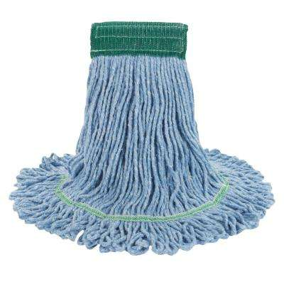 Super Loop Wet Mop Head, Cotton/Synthetic, Medium Size, Blue, 12/Carton