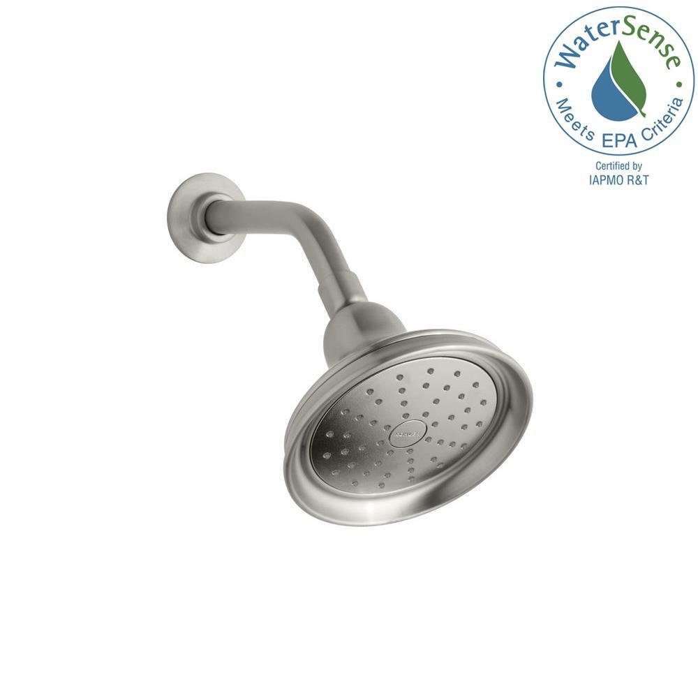 KOHLER Bancroft 1-spray Single Function 5-15/16 in. Showerhead in Vibrant Brushed Nickel