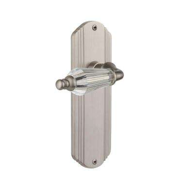Deco Plate 2-3/4 in. Backset Satin Nickel Privacy Bed/Bath Parlor Lever
