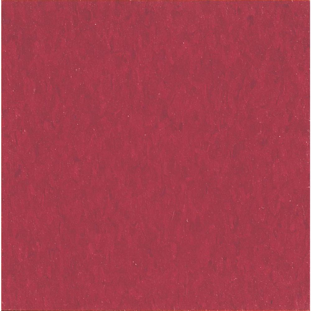 Imperial Texture 12 in. x 12 in. Cherry Red Standard Excelon