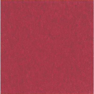 Imperial Texture VCT 12 in. x 12 in. Cherry Red Standard Excelon Vinyl Tile (45 sq. ft. / case)