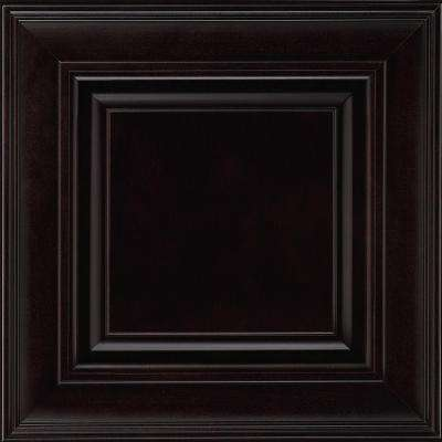 14-9/16x14-1/2 in. Savannah Maple Cabinet Door Sample in Espresso