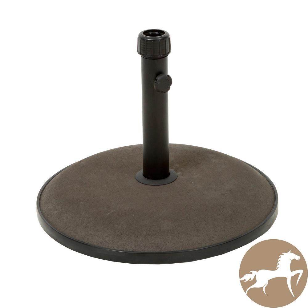 66 lbs. Edgar Concrete Patio Umbrella Base in Brown