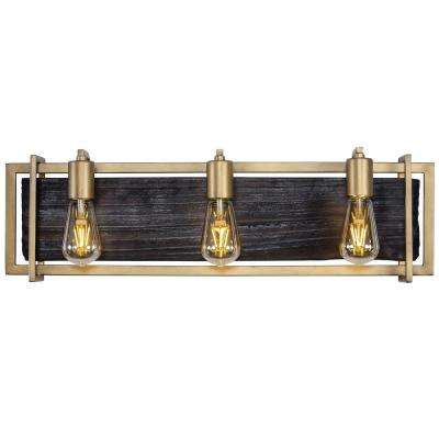 Madeira 3-Light Rustic Gold Bath Light