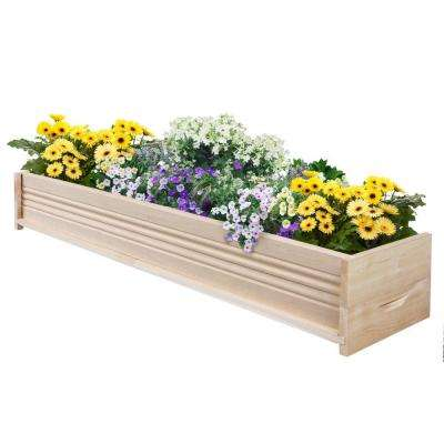 48 in. L Cedar Planter Box