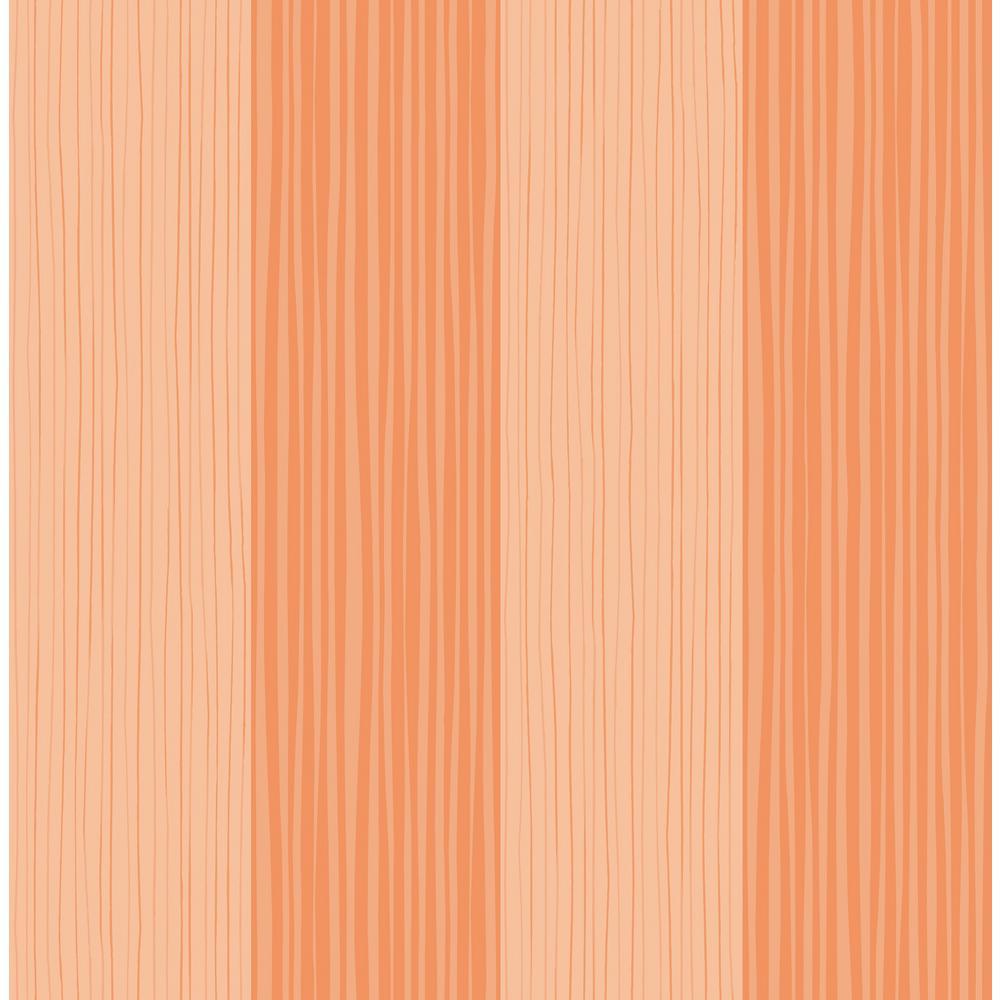 Phenomenal Kids Orange Waving Stripes Wallpaper Interior Design Ideas Skatsoteloinfo