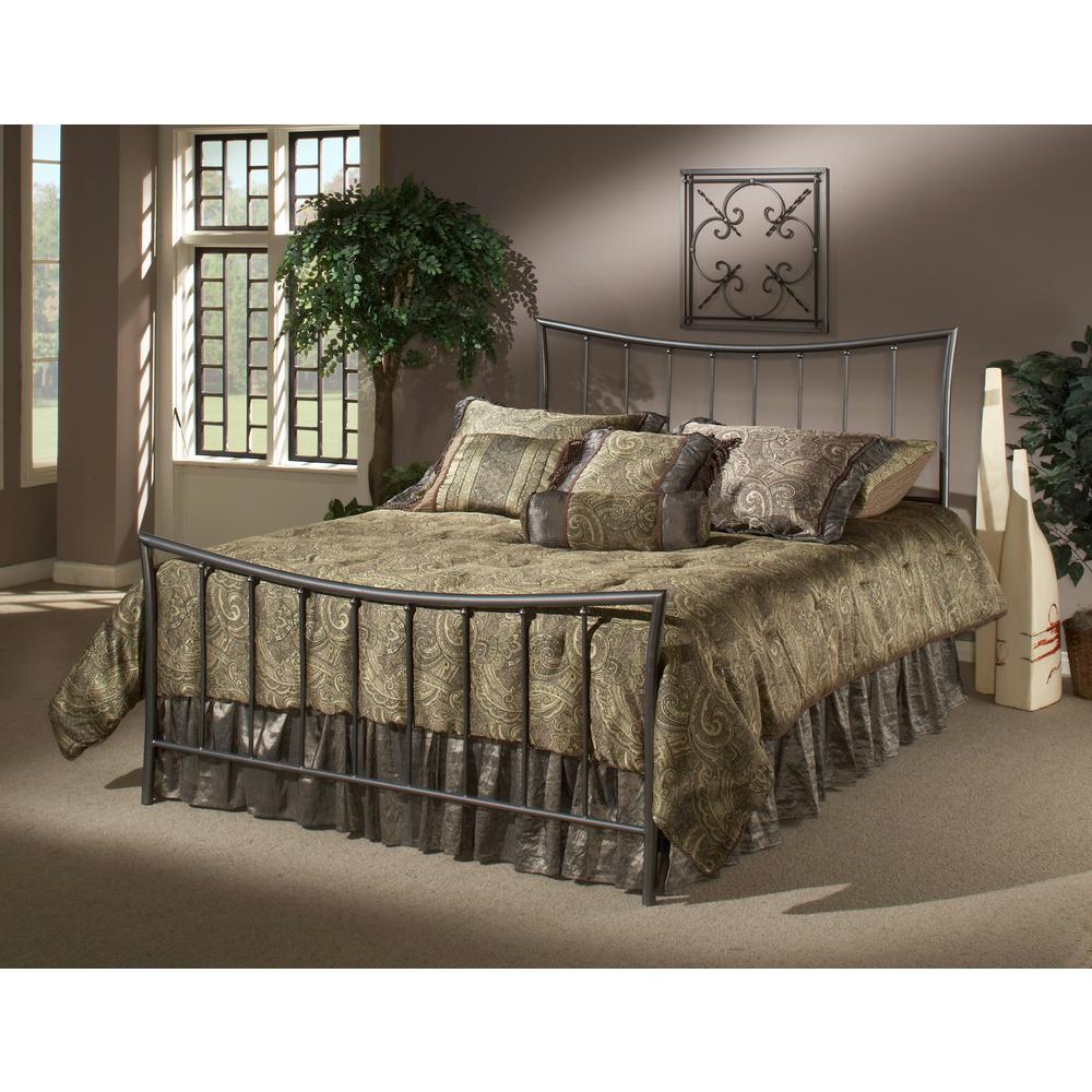 Hillsdale Edgewood Magnesium Pewter Full Bed Frame