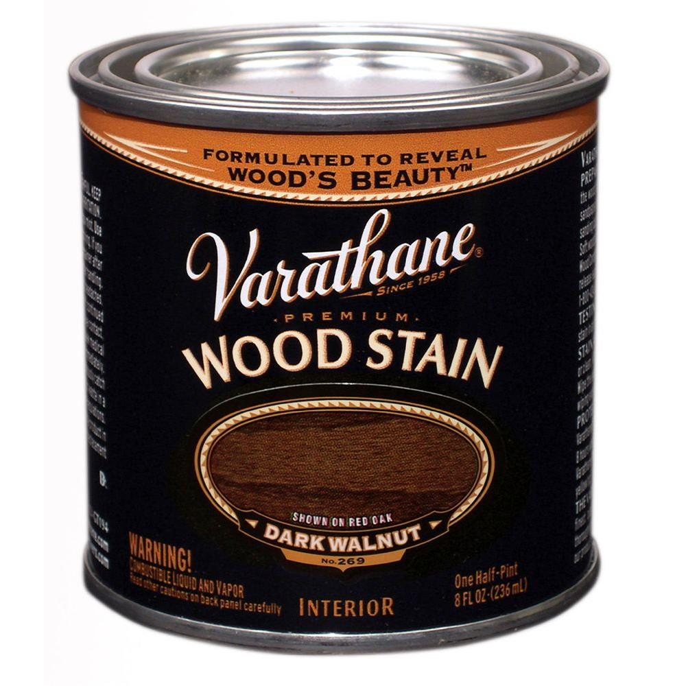 Varathane 8 Oz Dark Walnut Wood Interior Stain 266198