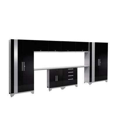 Performance 2.0 72 in. H x 156 in. W x 18 in. D Garage Cabinet Set in Black (10-Piece)