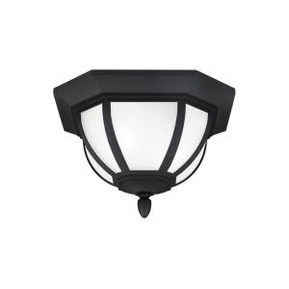 Childress 2-Light Black Ceiling Light