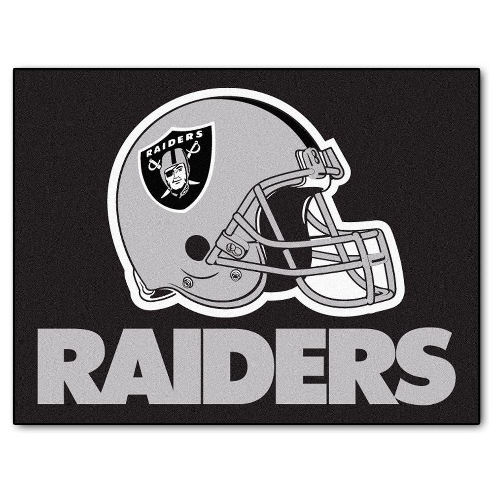 Fanmats Oakland Raiders 2 Ft 10 In X 3 Ft 9 In All