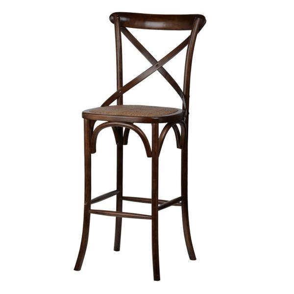 Ebury Dark Brown Birch Wood Bar Chair