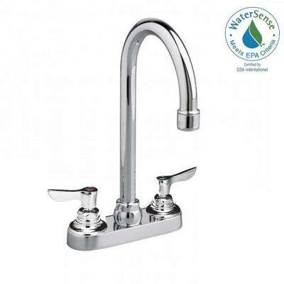 Monterrey 2-Handle Bar Faucet in Chrome with 5 Gooseneck Spout and Less Drain