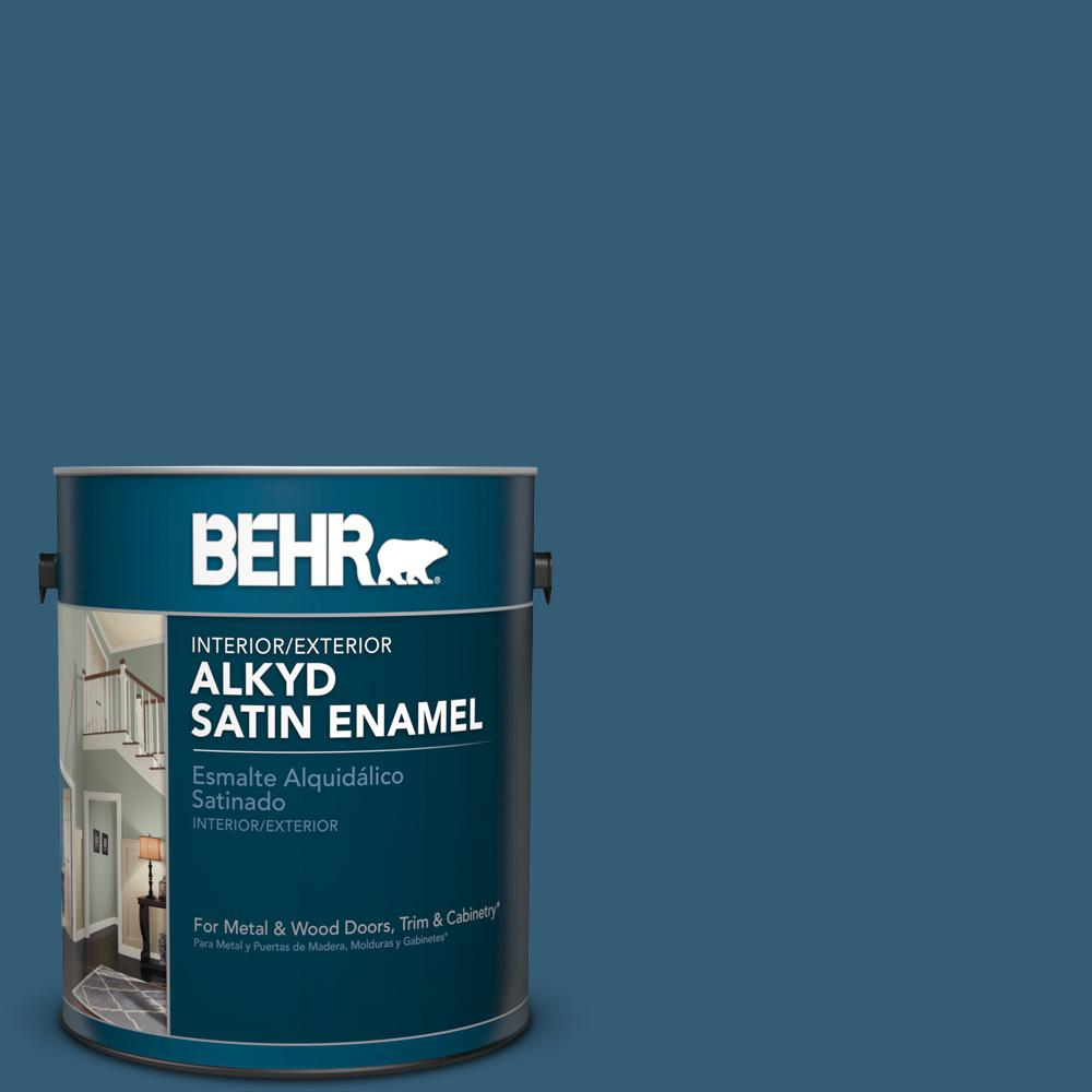 1 gal. #M490-7 Shasta Lake Satin Enamel Alkyd Interior/Exterior Paint