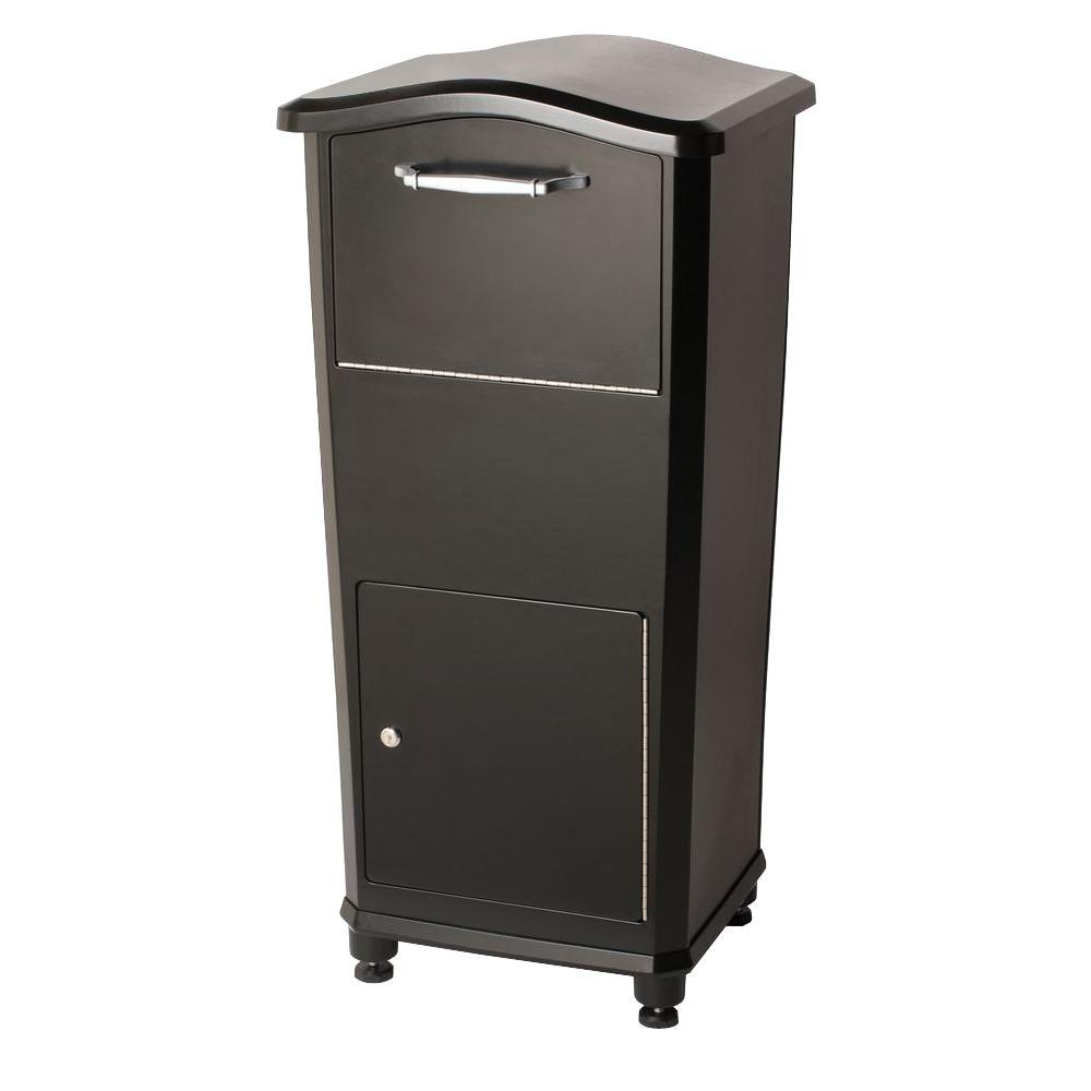 Architectural Mailbo Elephantrunk Parcel Drop Box In Black