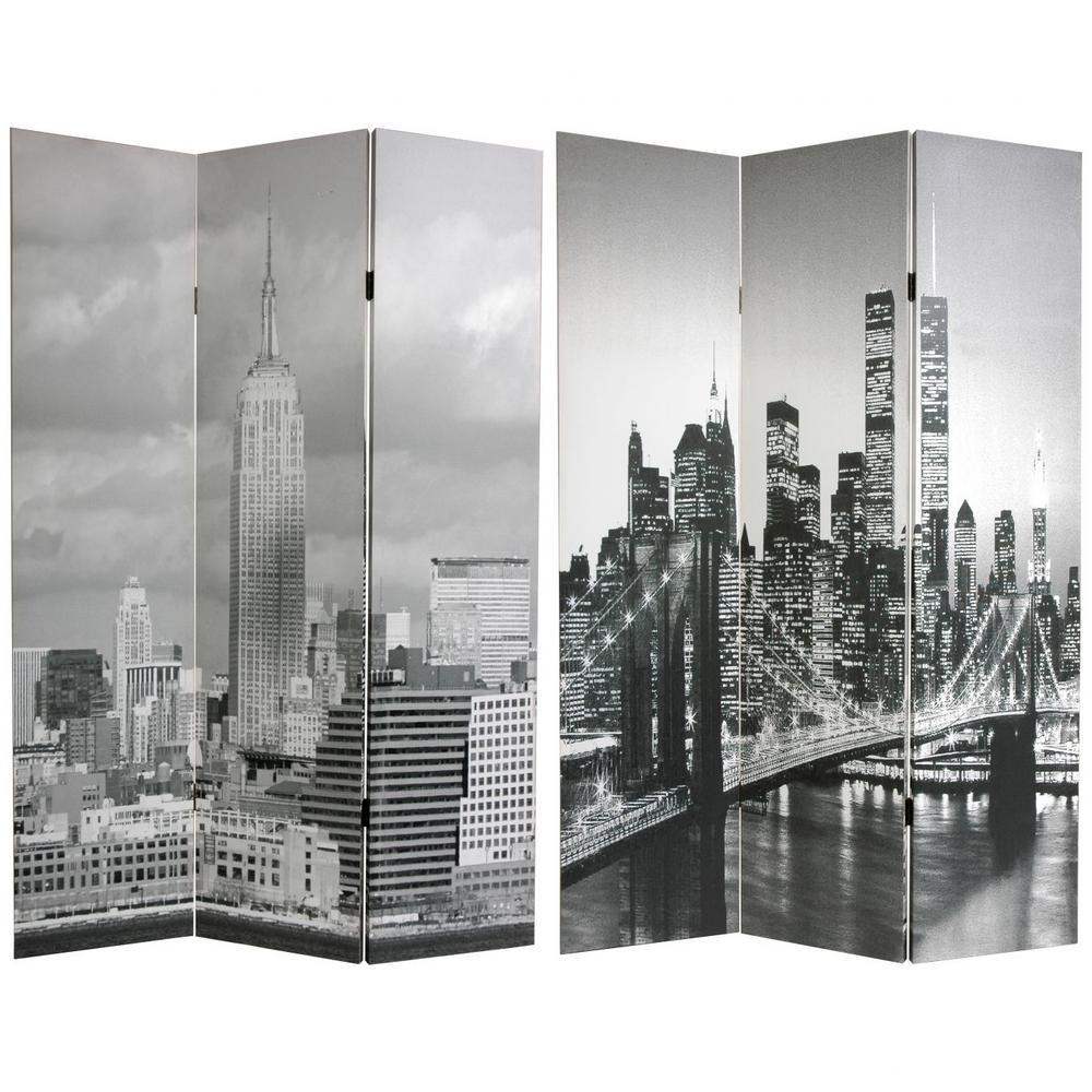 6 ft. Gray 3-Panel Room Divider