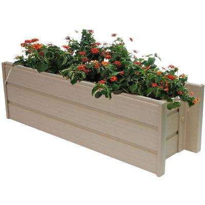 ecoChoice 24.4 in. x 7.5 in. Resin Window Box