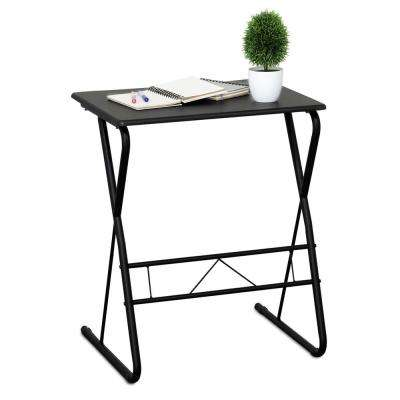 Besi Espresso Metal Frame Writing Desk