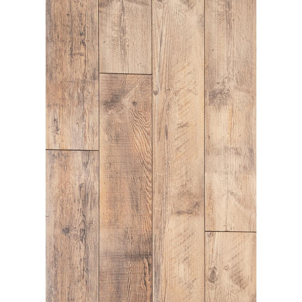 Home Decorators Collection Home Decorators Collection Reedville Pine 12mm Thick x 8.03 in. Wide x 47.64 in. Length Laminate Flooring (15.94 sq. ft. / case), Light