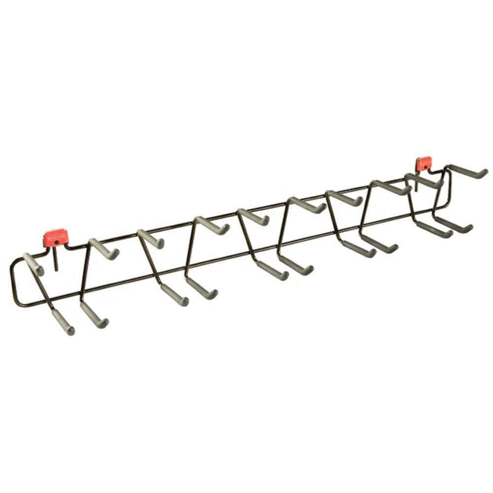 Rubbermaid tool rack shed accessory 1993450 the home depot for Garden shed hooks