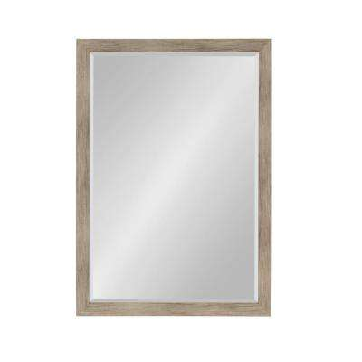 Beatrice Rectangle Rustic Brown Accent Mirror
