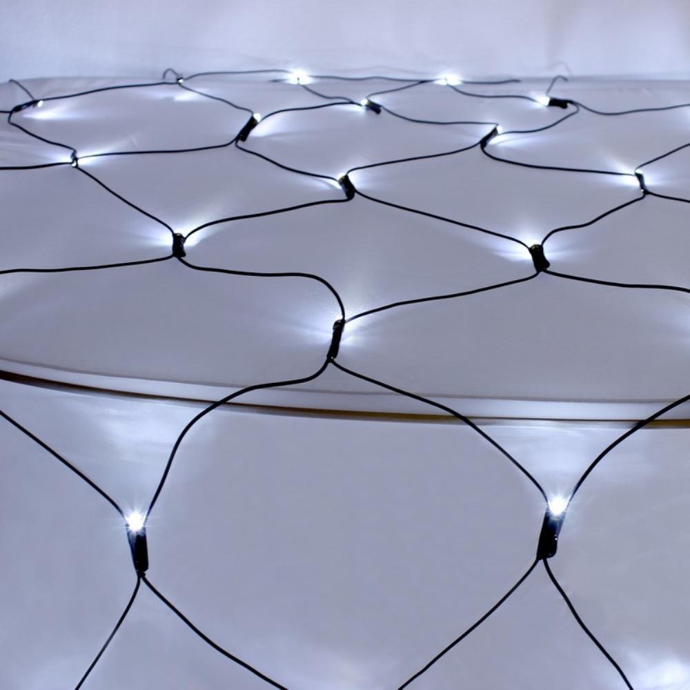 150-Light LED White Solar Powered Net Lights
