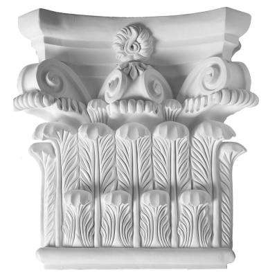 8-1/4 in. x 25-3/8 in. x 25-1/4 in. Decorative Polyurethane Capital for Pilaster