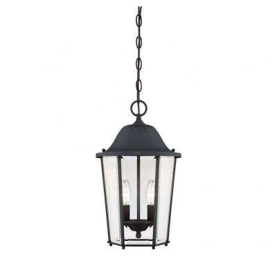 Monti 2-Light Black Outdoor Hanging Lantern