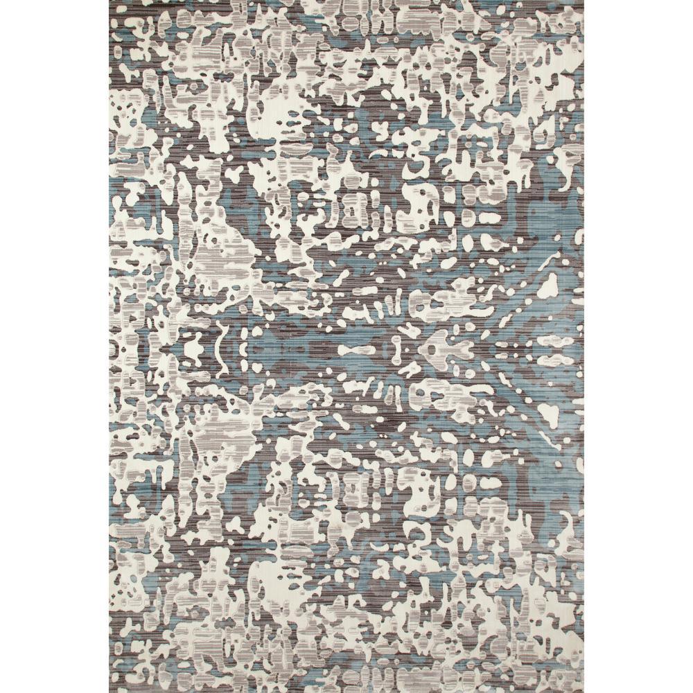 Titanium Topography Linen 2 ft. x 4 ft. Area Rug