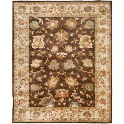Bergama Brown/Ivory 9 ft. x 12 ft. Area Rug