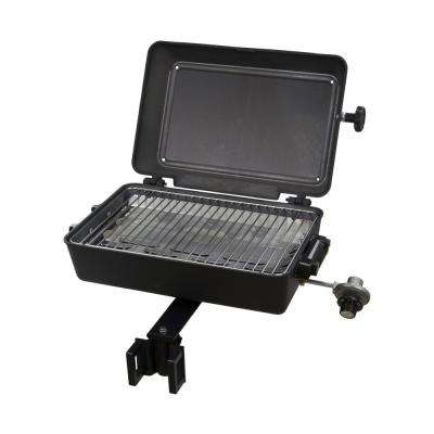 1-Burner Portable Propane Gas Grill With Multi-Fit Rail Mount in Black