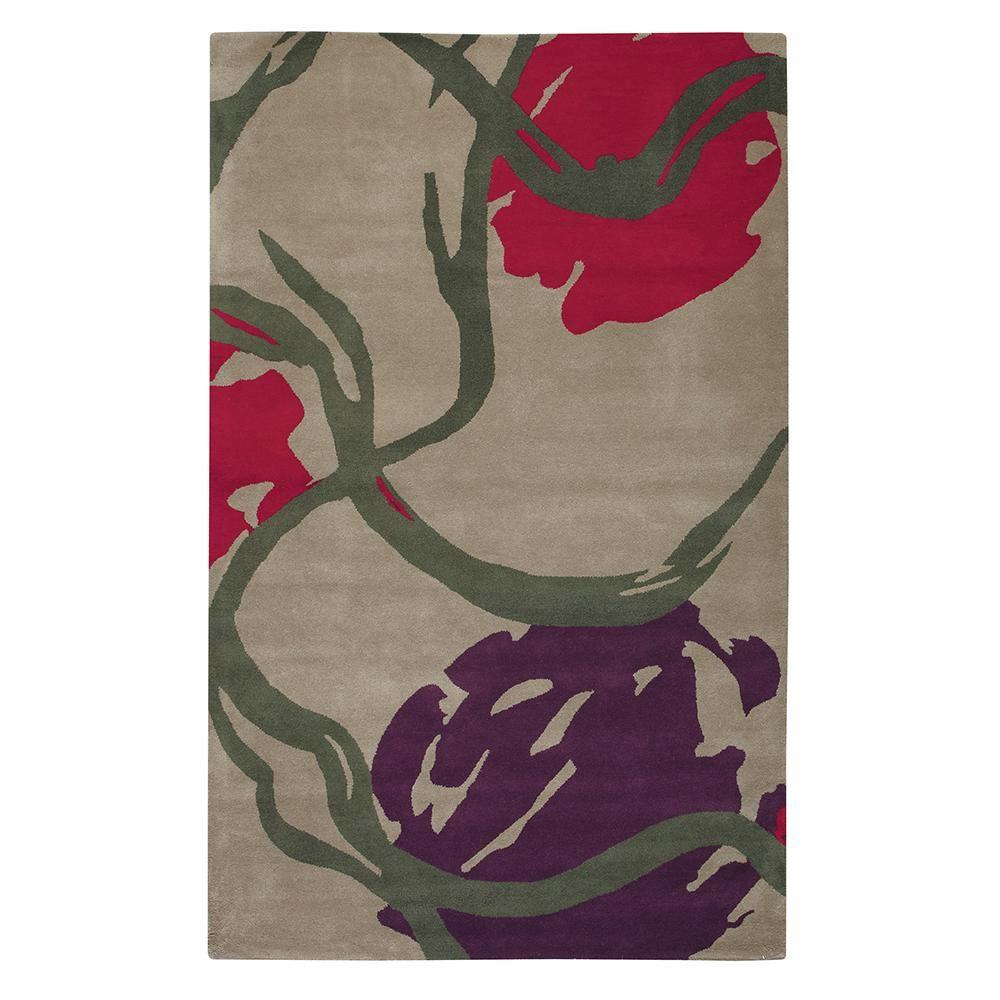 Home Decorators Collection Equinox Taupe 5 ft. 3 in. x 8 ft. Area Rug