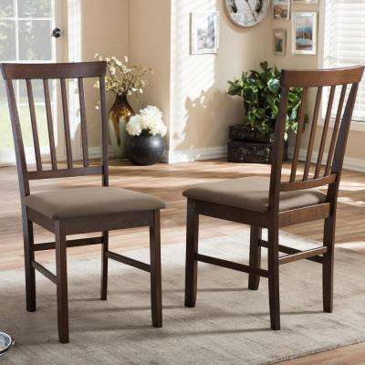 Tiffany Beige Fabric Upholstered Dining Chairs (Set of 2)