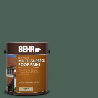 1 gal. #RP-28 Fernwood Flat Multi-Surface Exterior Roof Paint