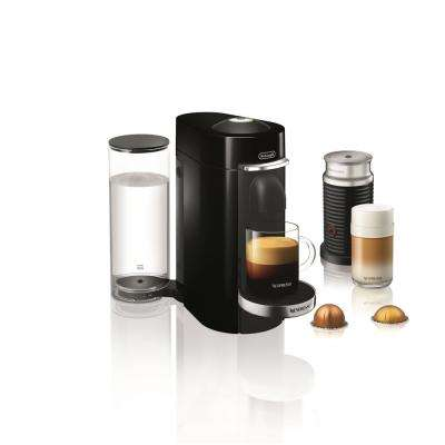 Nespresso Vertuo Plus Deluxe Single Serve Coffee and Espresso Machine by De'Longhi with Aeroccino in Black