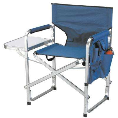 Stylish Camping Blue Full Back Folding Director's Chair