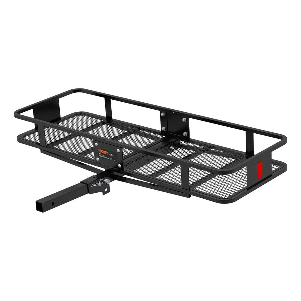 CURT 500 lb. Capacity 60 inch x 20 inch Steel Wide Basket Style Hitch Cargo Carrier for 2 inch Receiver