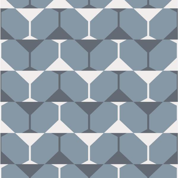 Mitchell Black Debut Collection Bikini Martini in Blue/Grey/White Removable and Repositionable Wallpaper