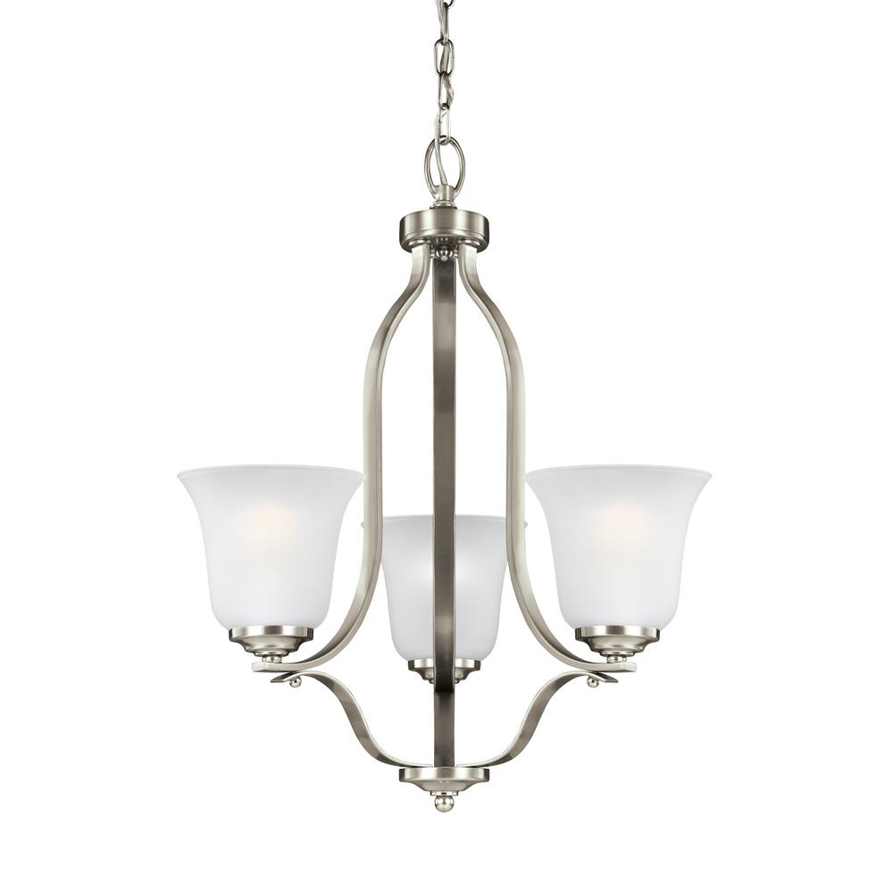 Emmons 3-Light Brushed Nickel Chandelier