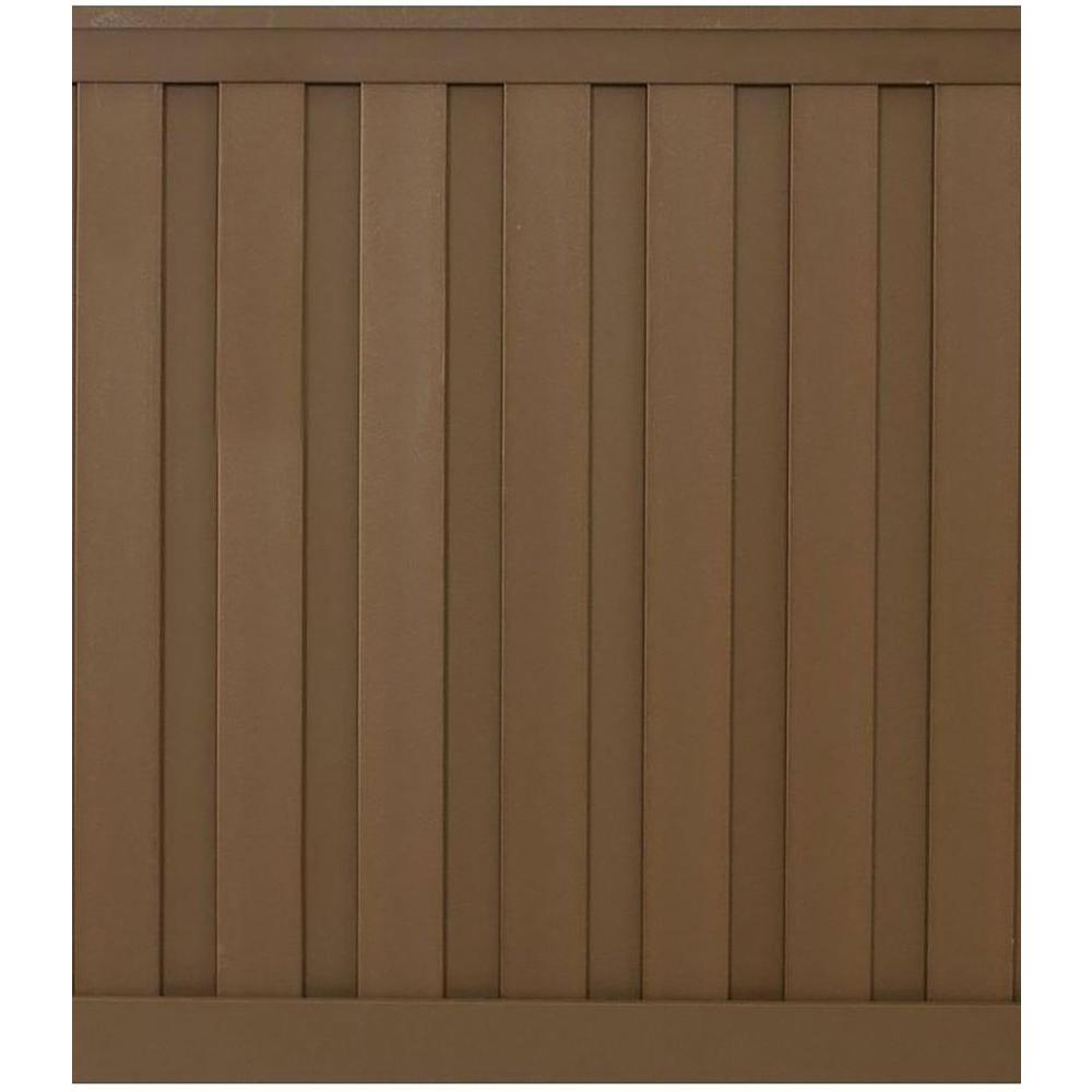 Seclusions 6 ft. x 6 ft. Saddle Brown Wood-Plastic Composite Board-On-Board