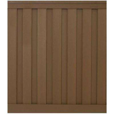 Seclusions 6 ft. x 6 ft. Saddle Brown Wood-Plastic Composite Board-On-Board Privacy Fence Panel Kit