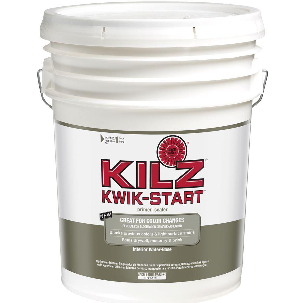 KILZ KWIK-START 5-gal. White Interior Water-Based Primer Sealer