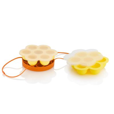 Egg Lover's Silicone 3-Piece Accessory Set Includes Cooking/Egg Rack and 2-Egg Bite Molds