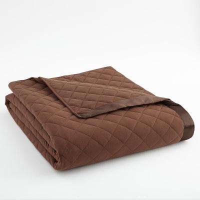 King Chocolate Quilted Polyester Blanket