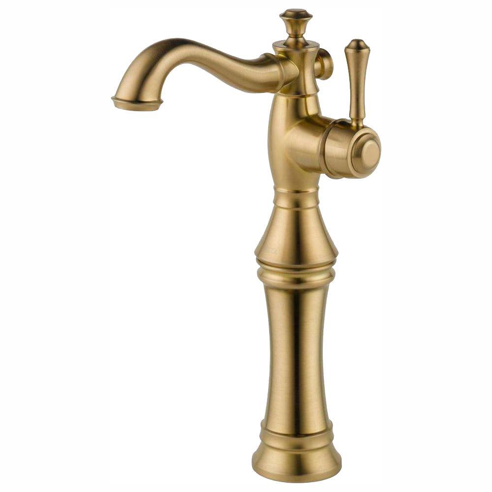 Stupendous Delta Cassidy Single Hole Single Handle Vessel Bathroom Faucet In Champagne Bronze Download Free Architecture Designs Oxytwazosbritishbridgeorg