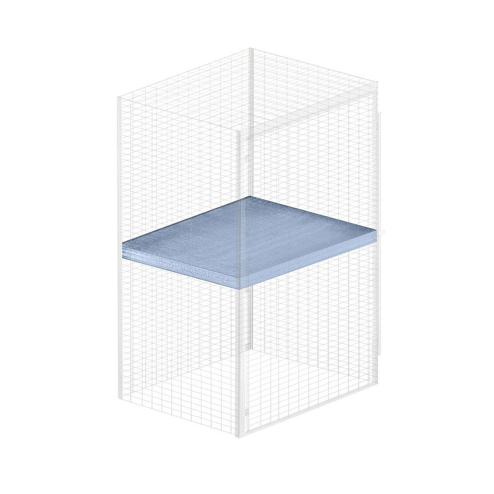 Salsbury Industries Storage Locker Option 48 in. W x 36 in. D x 0.5 in. Shelf H Shelf for Bulk Storage Locker in Aluminum
