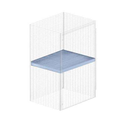 Storage Locker Option 48 in. W x 36 in. D x 0.5 in. Shelf H Shelf for Bulk Storage Locker in Aluminum
