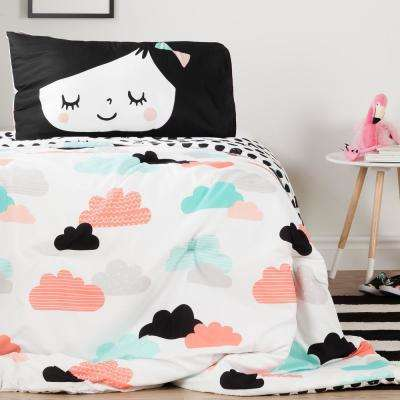 Night Garden Reversible Twin Comforter and Pillowcase