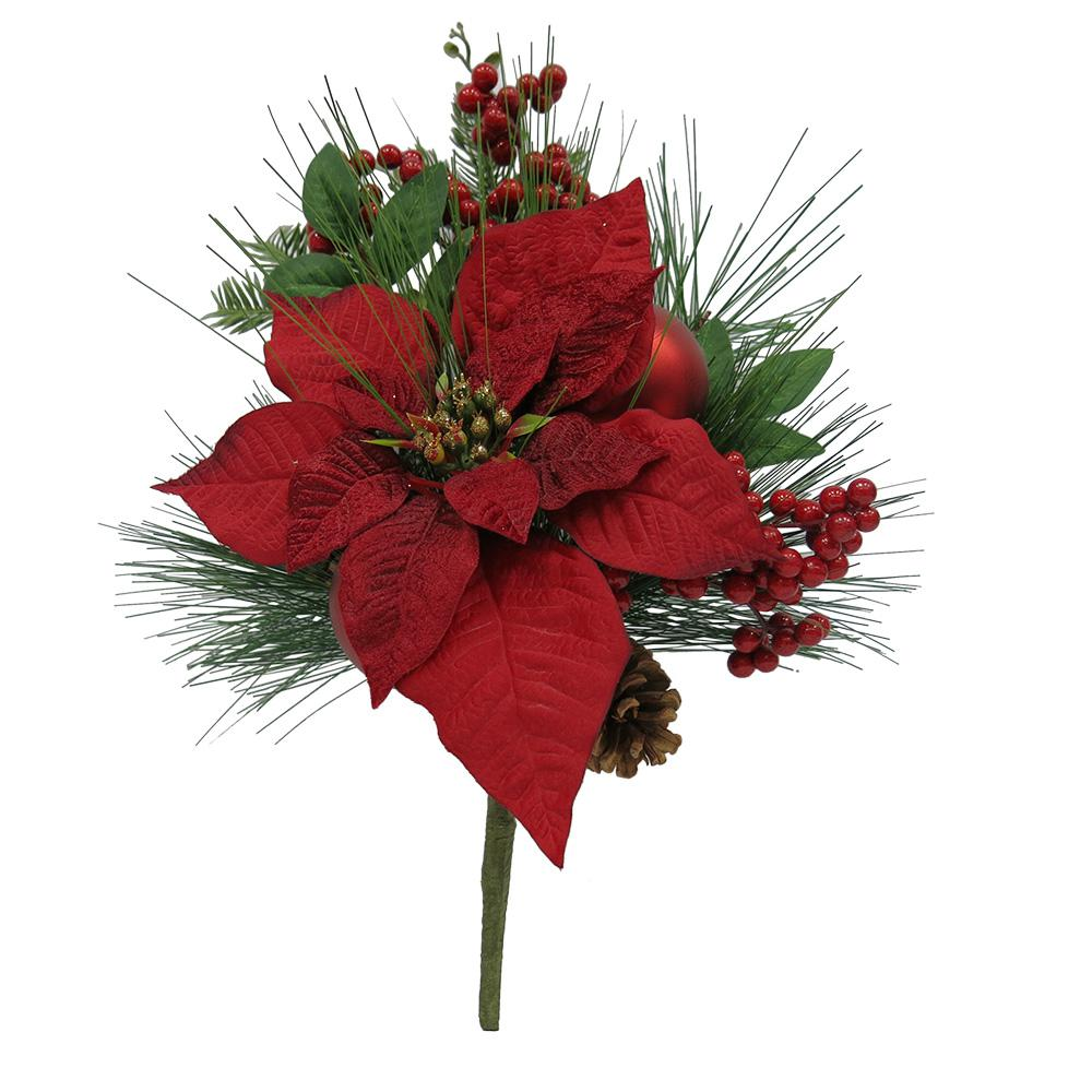 Home Accents Holiday 16 in. Floral Pick