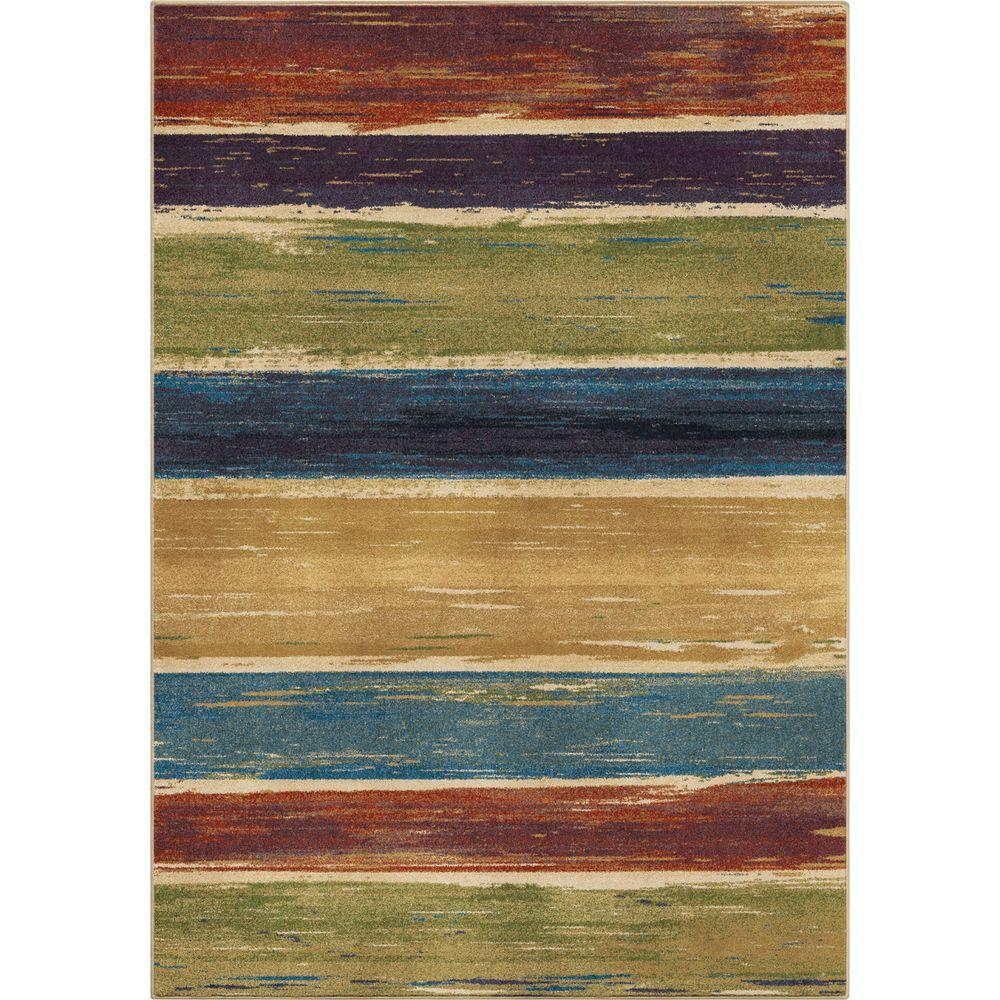 Orian Rugs Stretched Lines Multi 5 Ft X 8 Indoor Area Rug
